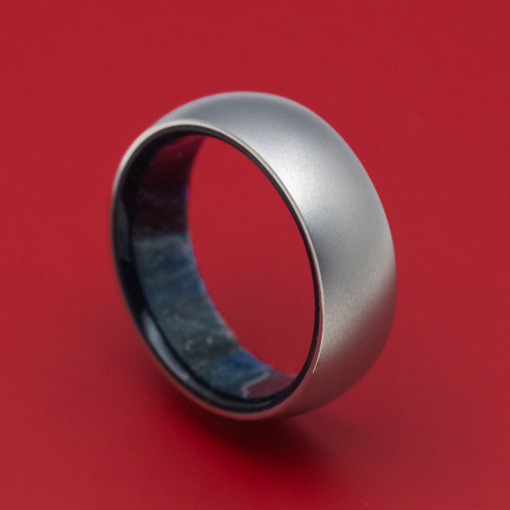 Titanium and DiamondCast Sleeve Ring Custom Made