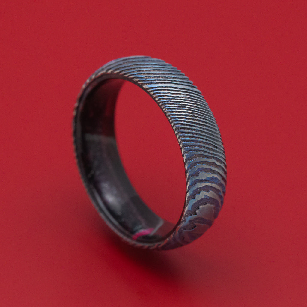 Kuro-Ti and DiamondCast Sleeve Ring Custom Made