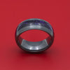 Black Zirconium and DiamondCast Inlay Ring Custom Made