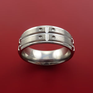 Titanium Unique Wedding Band Rings Made to Any Sizing 4-22