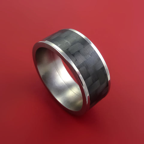 Carbon Fiber and Titanium Ring Style Weave Pattern