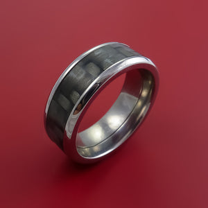 Titanium Ring with Carbon Fiber Inlay Custom Made Band