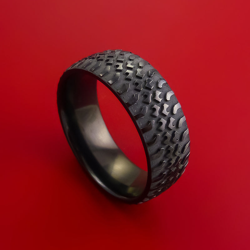 Black Zirconium Truck Tire Tread Ring Custom Made Band
