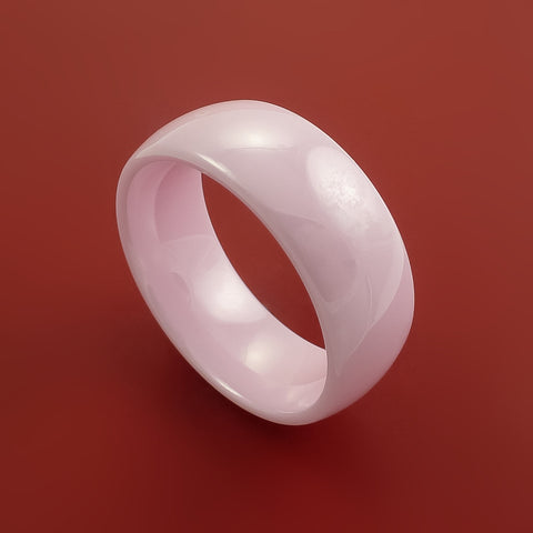 Pink Ceramic Ring Durable Custom Made Ring by Stonebrook Jewelry
