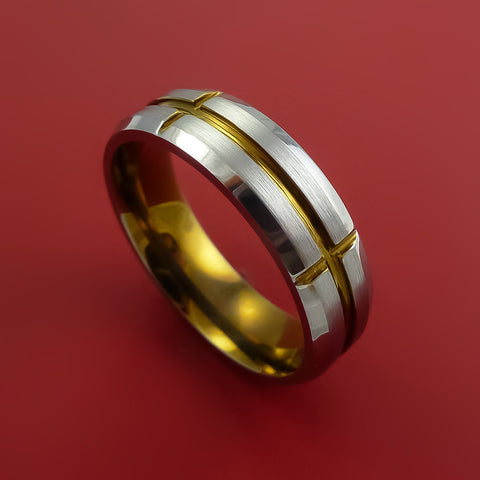 Titanium and Bronze Band Custom Made Ring to Any Sizing and and width