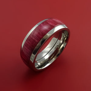 Titanium Ring with Hardwood Inlay Custom Made Band