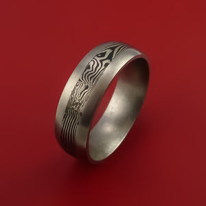 Titanium, Silver and Mokume Ring Custom Made to Any Size and Finish