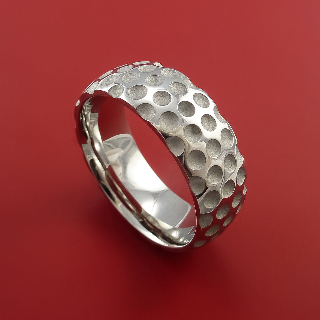 Cobalt Chrome Golf Inspired Golf Ball Sport Ring