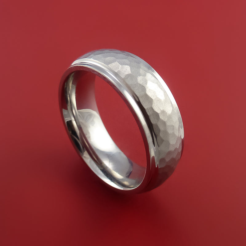 Hammered Cobalt Chrome Ring Custom Made Band