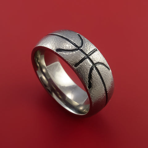Titanium Basketball Inspired Ring Custom Made Band