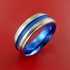 Titanium Band Custom Color Design Ring Any Size 3 to 22 Blue, Purple, Magenta, Bronze, Yellow, Turquoise - Stonebrook Jewelry  - 2