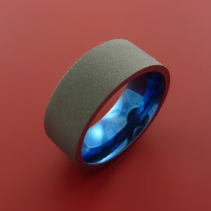 Black Zirconium Ring with Interior Anodized Sleeve Custom Made Band
