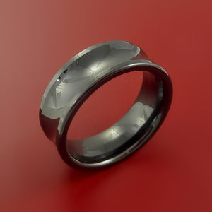Black Zirconium Ring Custom Made Band