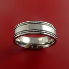 Titanium Millgrain Band Custom Ring Made to Any Sizing and Finish 3-22 by Stonebrook Jewelry