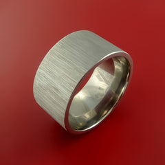 Titanium Extra Wide Modern Style Band Fashion Ring Made to Any Sizing 3 to 22 - Stonebrook Jewelry  - 2