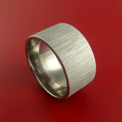 Titanium Extra Wide Modern Style Band Fashion Ring Made to Any Sizing 3 to 22 - Stonebrook Jewelry  - 1
