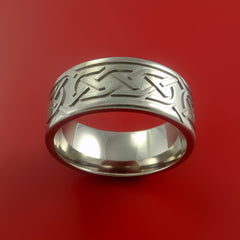 Titanium Celtic Band Infinity Symbolic Wedding Ring Custom Made to Any Size by Stonebrook Jewelry