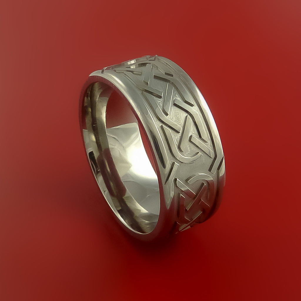Titanium Celtic Band Infinity Symbolic Wedding Ring Custom Made to Any Size - Stonebrook Jewelry  - 1