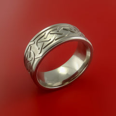 Titanium Celtic Band Infinity Symbolic Wedding Ring Custom Made to Any Size - Stonebrook Jewelry  - 2