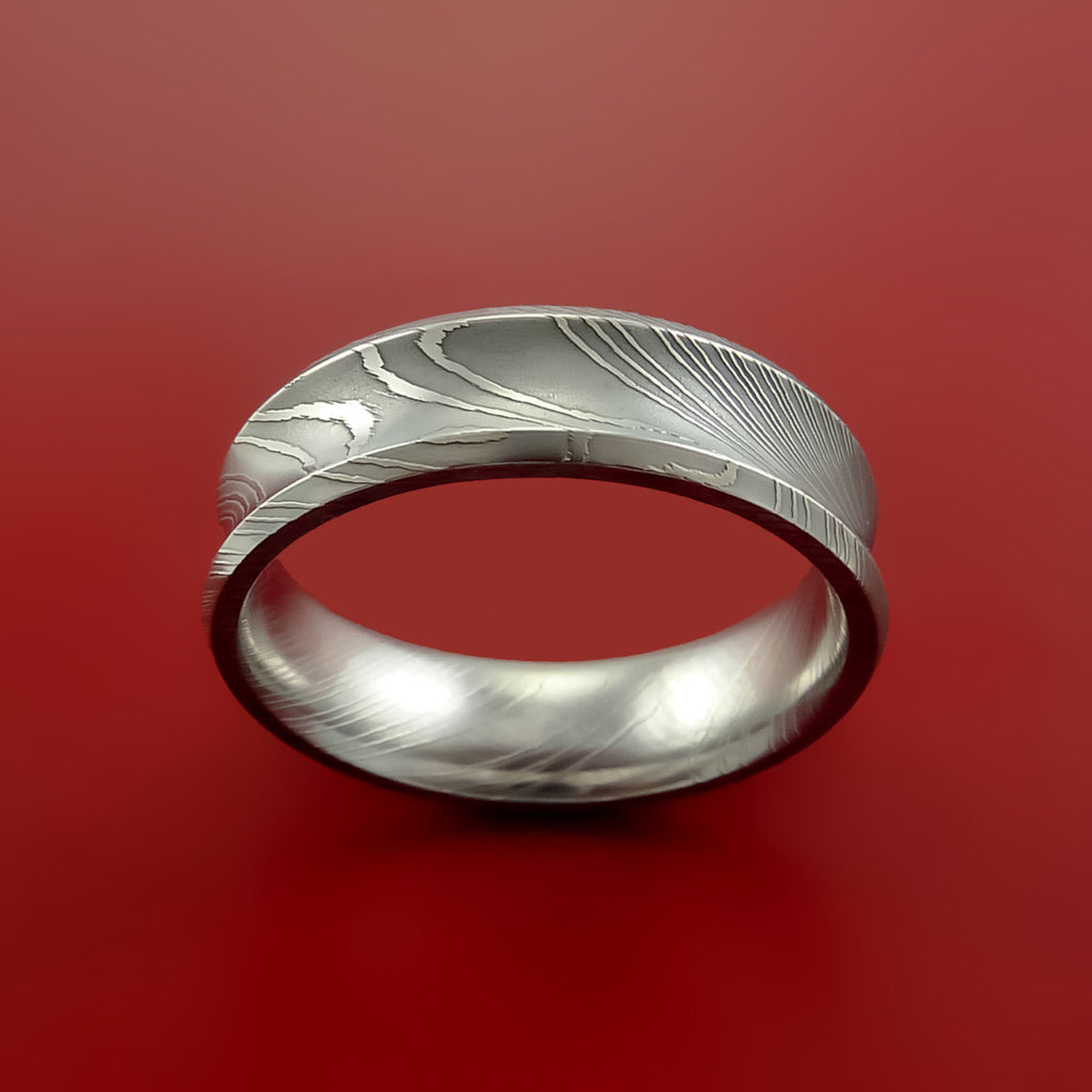 Damascus Steel Ring Wedding Band Genuine Unique Style - Stonebrook Jewelry  - 2