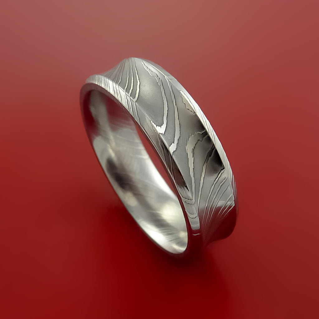Damascus Steel Ring Wedding Band Genuine Unique Style - Stonebrook Jewelry  - 5
