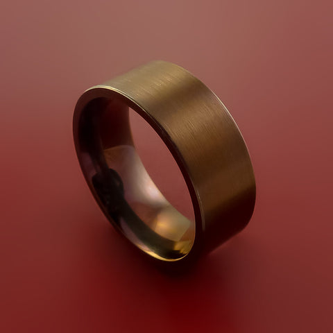 Titanium and Bronze Band Custom Made Ring to Any Sizing and Finish 3-22