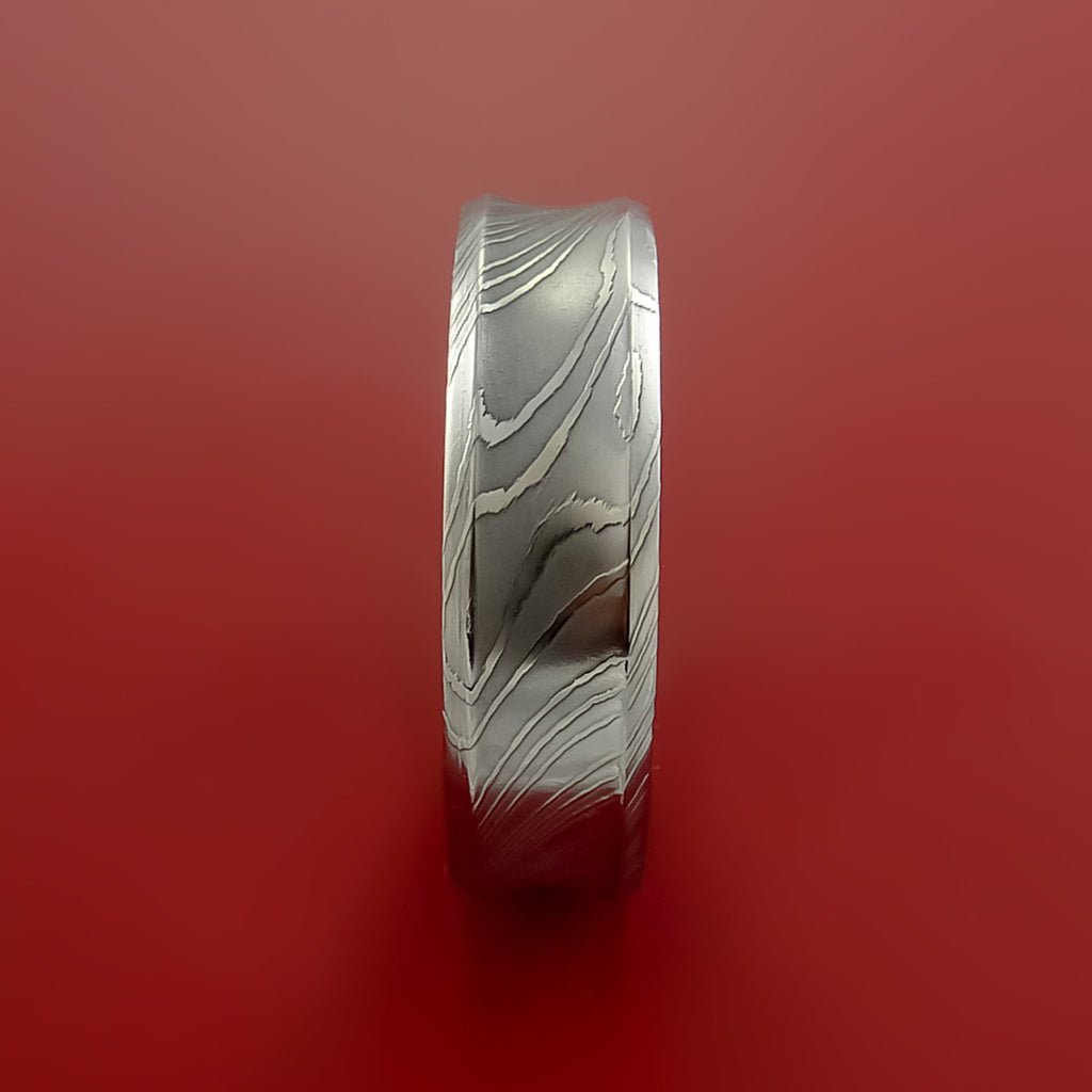 Damascus Steel Ring Wedding Band Genuine Unique Style - Stonebrook Jewelry  - 3