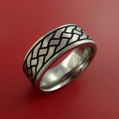 Titanium Celtic Band Infinity Symbolic Wedding Ring Custom Made to Any Size and Color by Stonebrook Jewelry