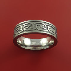 Titanium Celtic Band Narrow Infinity Symbolic Wedding Ring Custom Made to Any Size 3 to 22 - Stonebrook Jewelry  - 4