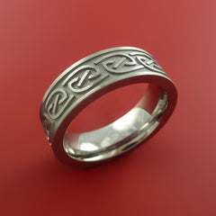 Titanium Celtic Band Narrow Infinity Symbolic Wedding Ring Custom Made to Any Size 3 to 22 - Stonebrook Jewelry  - 2