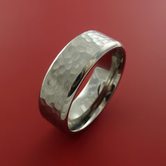 Titanium Modern Style Hammer Finish Band Fashion Ring Made to Any Sizing - Stonebrook Jewelry  - 4