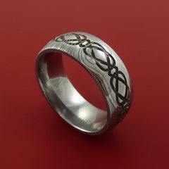 Damascus Steel Celtic Knot Ring Infinity Design Wedding Band by Stonebrook Jewelry