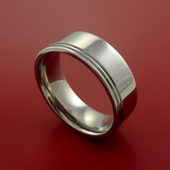 Titanium Wedding Band Engagement Ring Made to Any Sizing and Finish 3-22 - Stonebrook Jewelry  - 1
