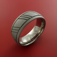 Titanium Unique Wedding Band Rings Made to Any Sizing 4-22 by Stonebrook Jewelry