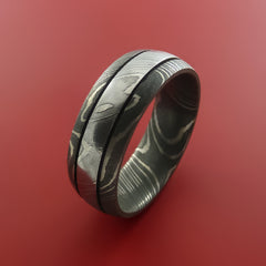 Damascus Steel Ring Wedding Band Genuine Craftsmanship - Stonebrook Jewelry  - 4