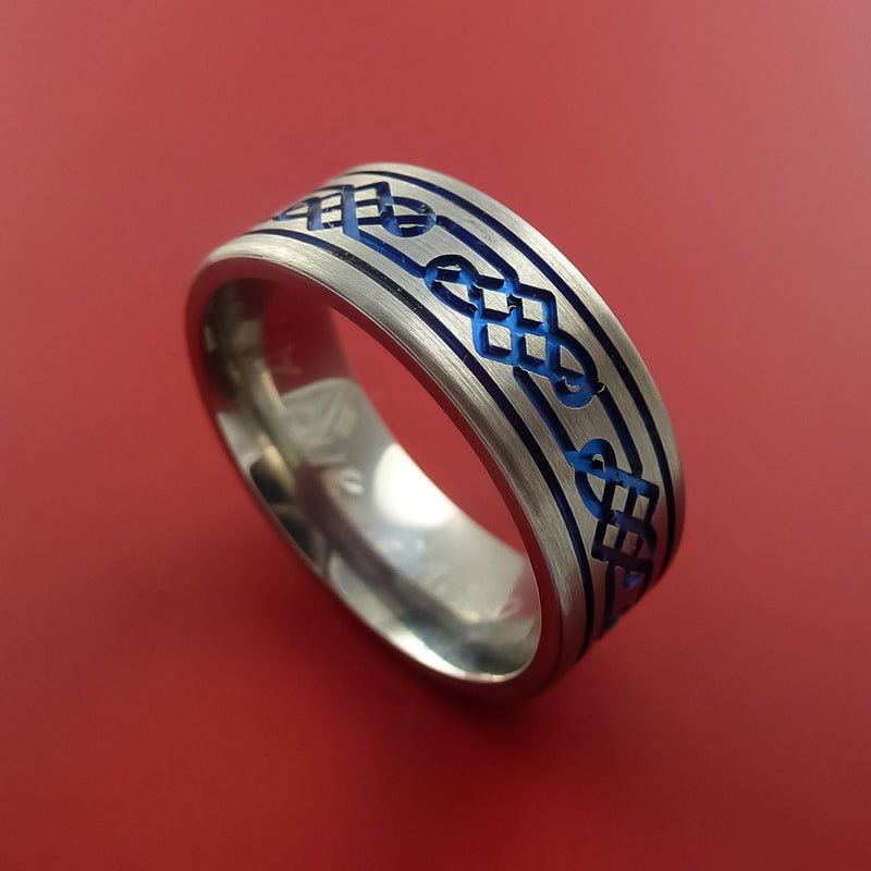 Titanium Celtic Band Infinity Design Ring