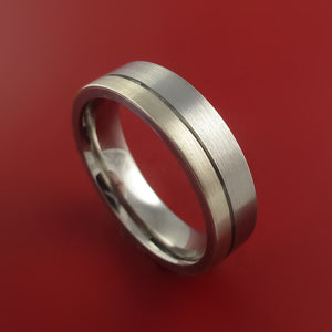 Platinum and Titanium Wedding Ring Custom Made Band Any Finish and Sizing from 3-22