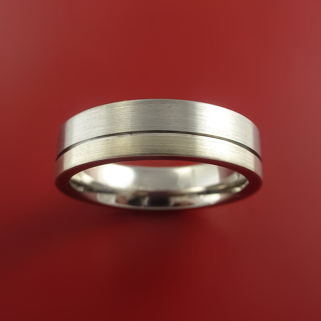 Palladium and Titanium Wedding Ring Custom Made Band Any Finish and Sizing from 3-22 - Stonebrook Jewelry  - 2