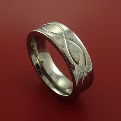 Titanium Celtic Band Infinity Symbolic Wedding Ring Custom Made to Any Size 3 to 22 - Stonebrook Jewelry  - 1