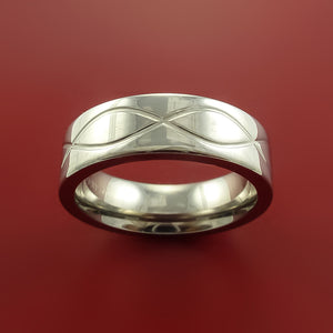 Titanium Ring with Infinity Milled Celtic Design Inlay Custom Made Band