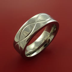 Titanium Celtic Band Infinity Symbolic Wedding Ring Custom Made to Any Size 3 to 22 - Stonebrook Jewelry  - 4