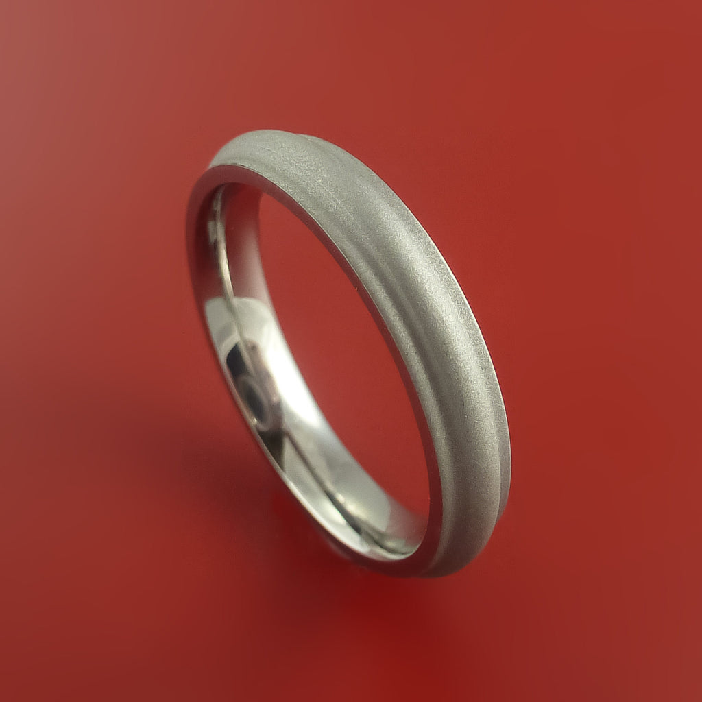 Titanium Ring Custom Made Band Any Finish and Sizing from 3-22 by Stonebrook Jewelry