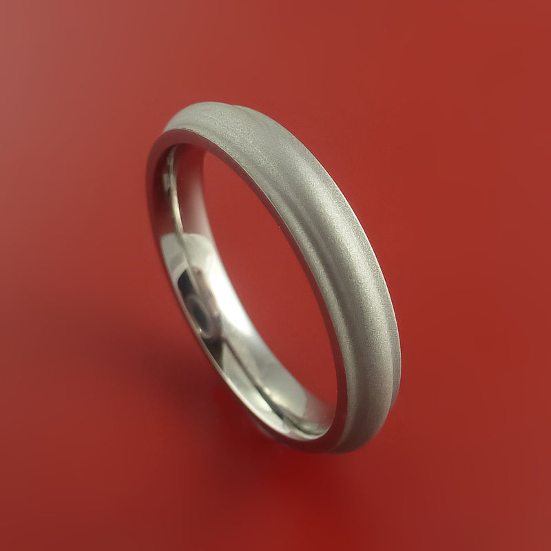 Titanium Ring Custom Made Band Any Finish and Sizing from 3-22