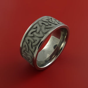 Titanium Celtic Band Trinity Symbolic Wedding Infinity Ring Custom Made