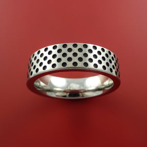 Titanium Ring Textured Mini Dimple Pattern Band Made to Any Sizing and Finish 3-22