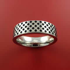 Titanium Ring Textured Mini Dimple Pattern Band Made to Any Sizing and Finish 3-22 by Stonebrook Jewelry