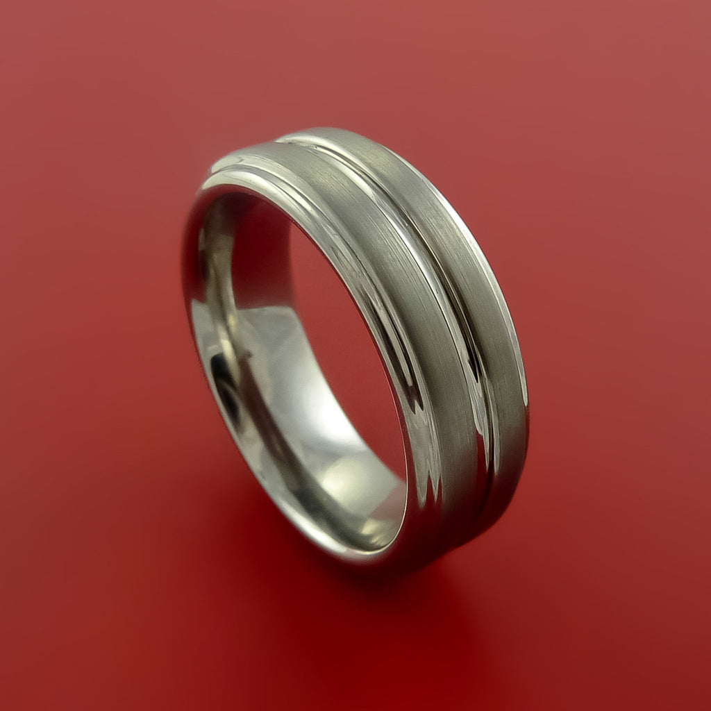 Titanium Custom Sized Band Modern Style Ring Made to Any Sizing and Finish 3-22 by Stonebrook Jewelry