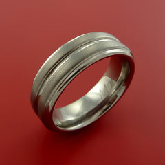 Titanium Custom Sized Band Modern Style Ring Made to Any Sizing and Finish 3-22 - Stonebrook Jewelry  - 2