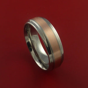 Rose Gold and Titanium Wide Band Any Finish and Sizing from 3-22