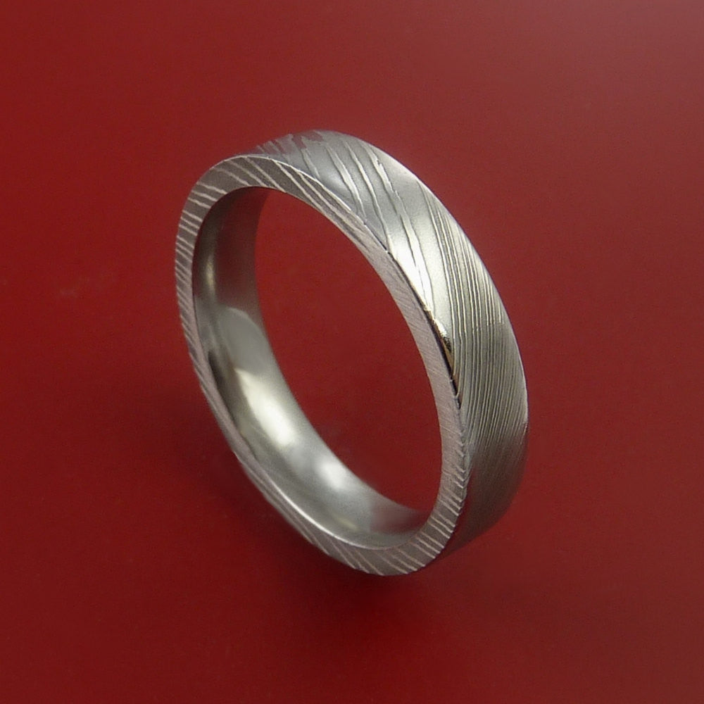 Damascus Steel Ring Wedding Band Genuine Craftsmanship ...